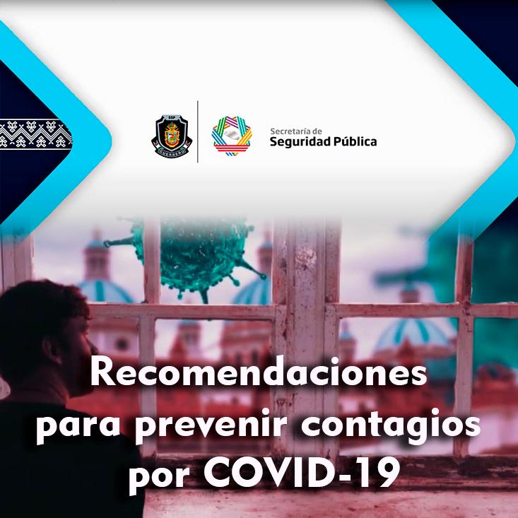 Recomendaciones para prevenir contagios por COVID-19