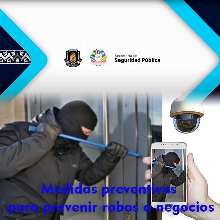 Medidas preventivas para prevenir robos a negocios