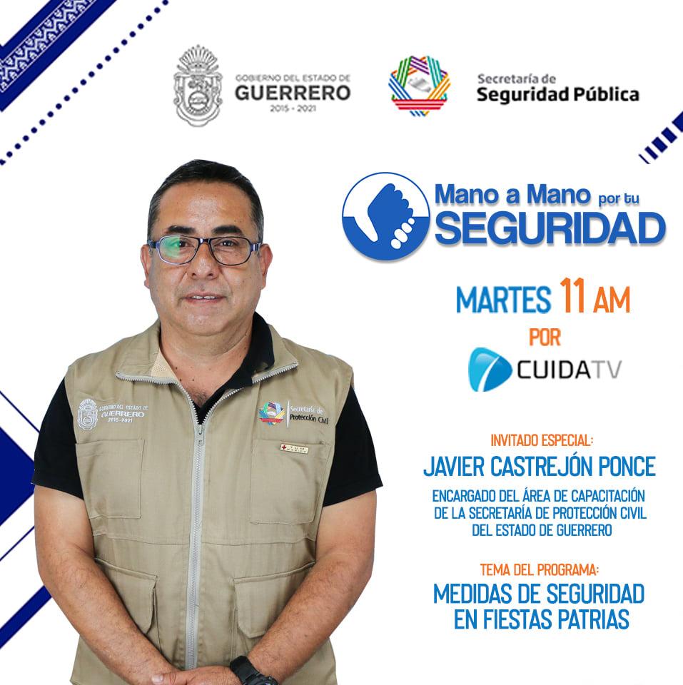 """Programa """"Mano a Mano por tu Seguridad"""" Tema: Medidas de seguridad en festejos patrios"""